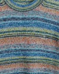 Space-dyed crewneck sweater