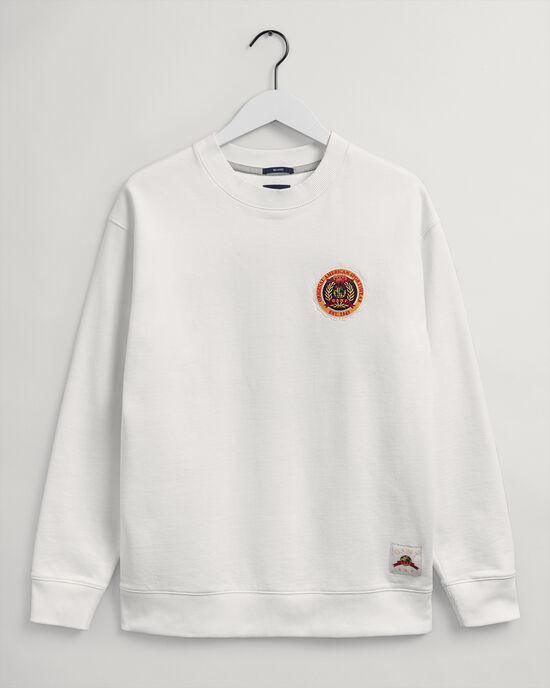 Relaxed fit World Crest sweatshirt med crewneck