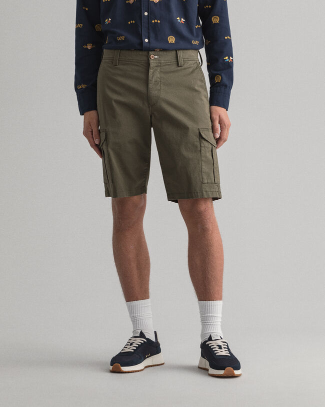 Relaxed fit utility-shorts af twill