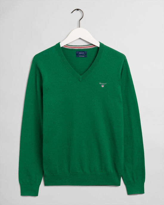 Cotton Wool V-Neck Sweater